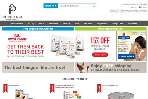 Providence Animal Center online pharmacy