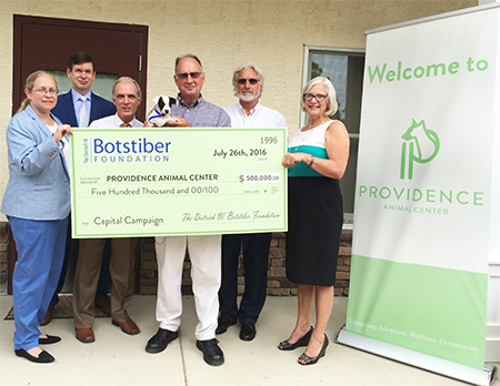 Dietrich W. Botstiber Foundation contribution to Providence Animal Center