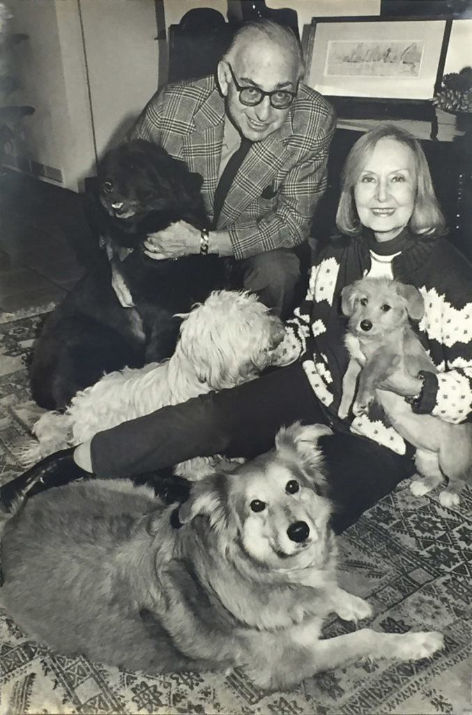 Providence Animal Center picture ofAlex Lewyt and Elisabeth Lewyt with their dogs