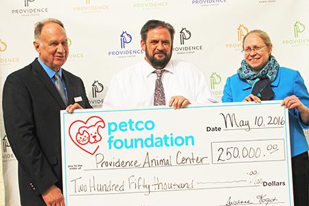 Petco foundation donation to Providence Animal Center